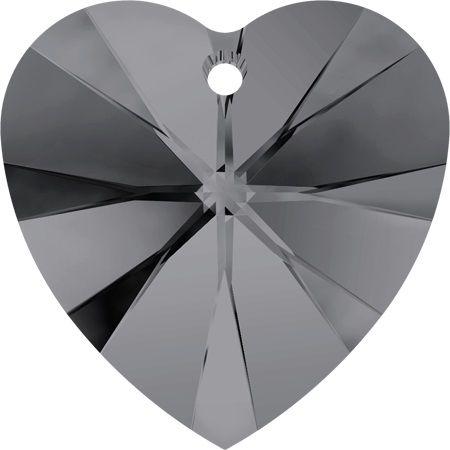 Swarovski Srdce 18 Cr. Silver night