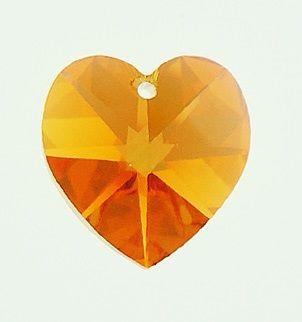 Swarovski Srdce 18 Topaz