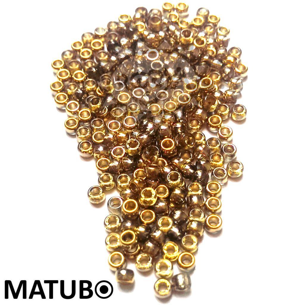 Matubo 7/0 krystal zlato amber