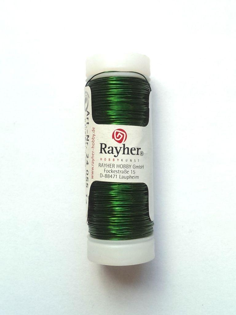 Drát Rayher tmavě zelený 0,30 mm