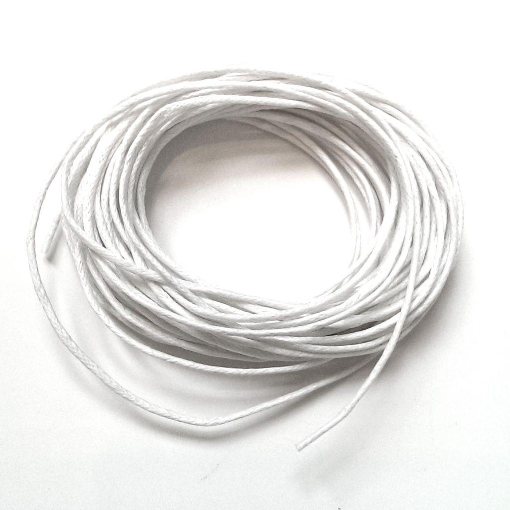 Voskovaná šňůra 1 mm bílá