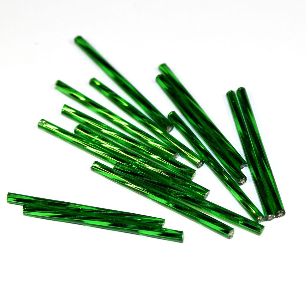 Trubičky kroucené 25 mm tmavě zelené