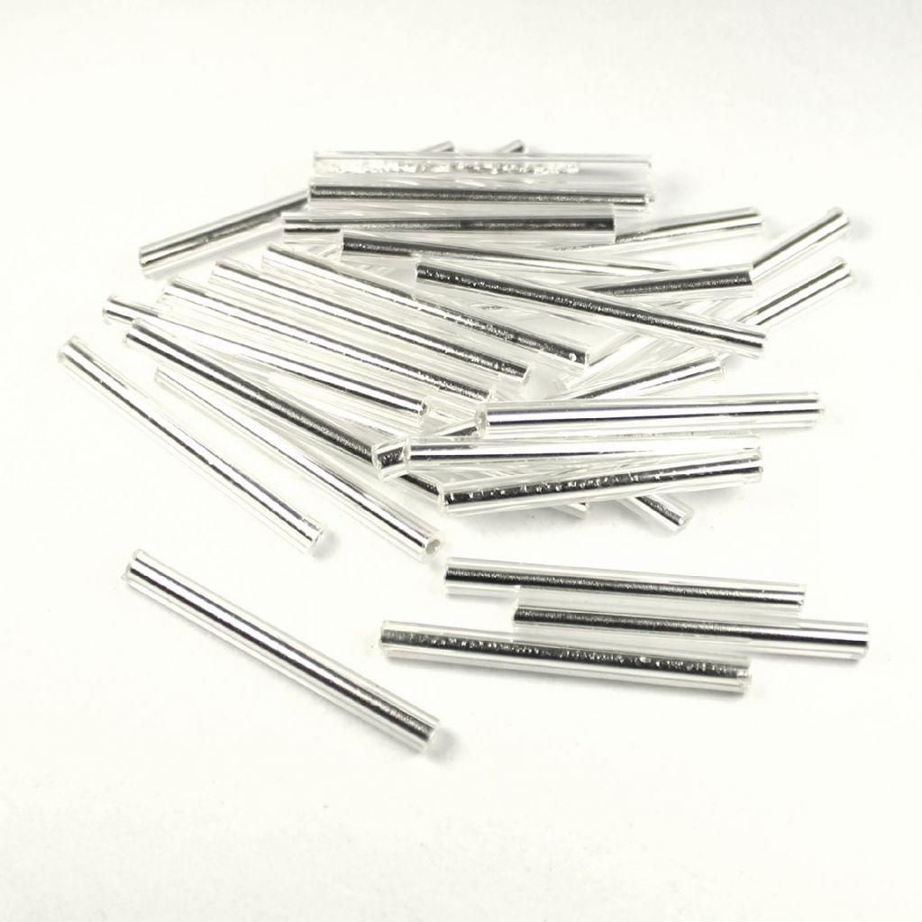 Trubička stříbrná 25mm