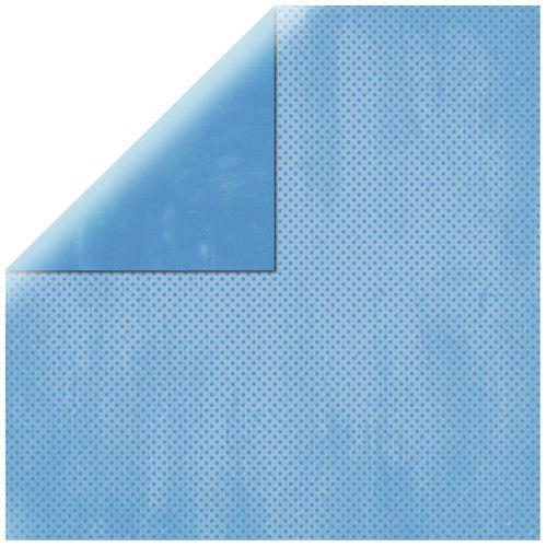 SP Double Dot, nebeská modrá, 30,5x30,5cm, 190g/m2