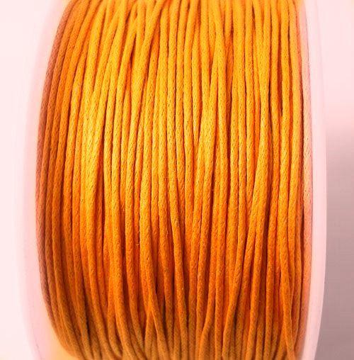 Voskovaná šňůra 1 mm oranžová