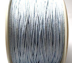 Voskovaná šňůra 1 mm světle modrá