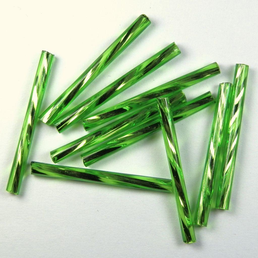 Trubička zelená kroucená 30 mm