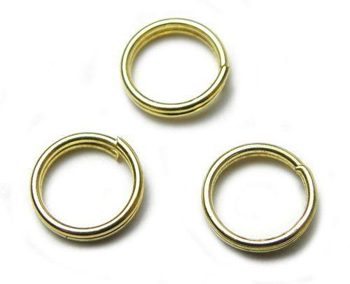 Dvojitý kroužek, zlatý, 8 mm