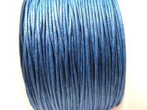 Voskovaná šňůra 1 mm modrá