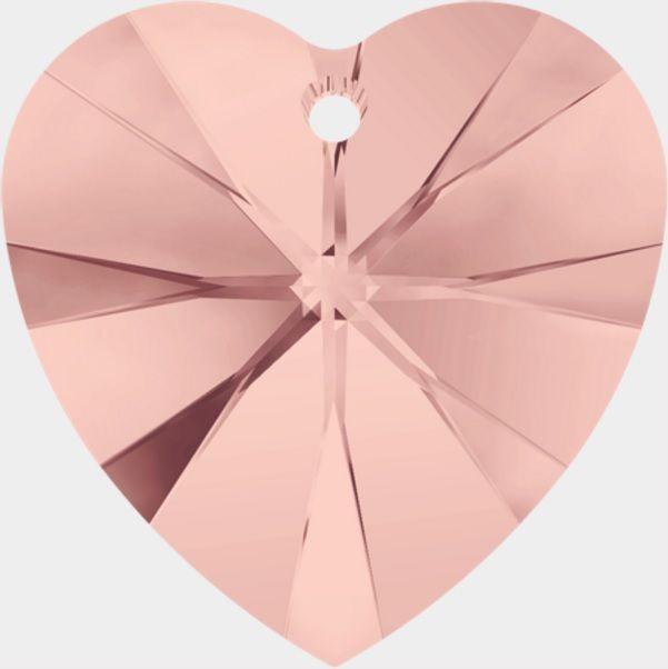 Swarovski Srdce 14 Blush rose