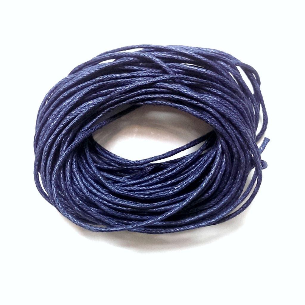 Voskovaná šňůra 1 mm tmavě modrá