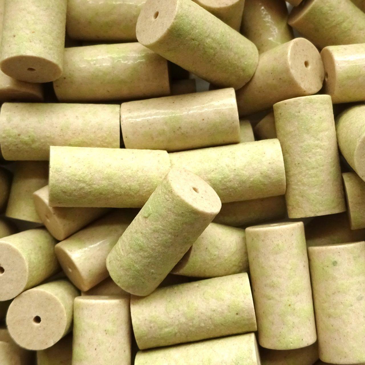 Keramické válečky 9x18 mm sv. zelené