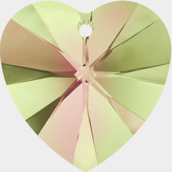 Swarovski Srdce 18 Cr. Luminious gr.