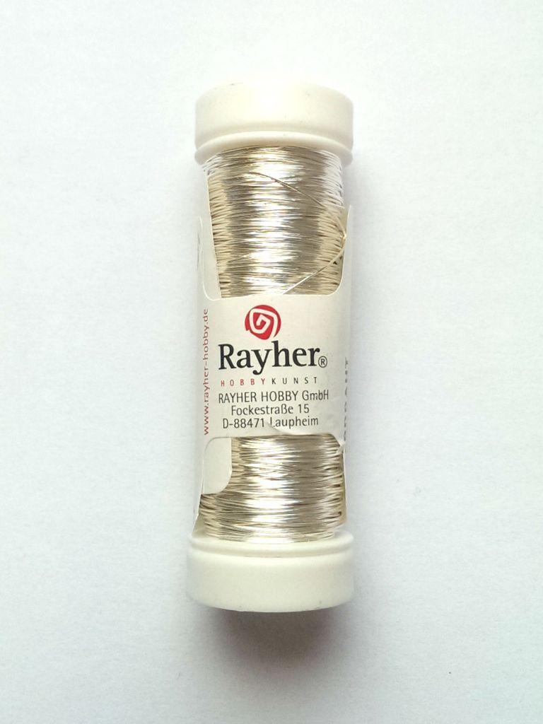 Drát Rayher postříbřený 0,40 mm
