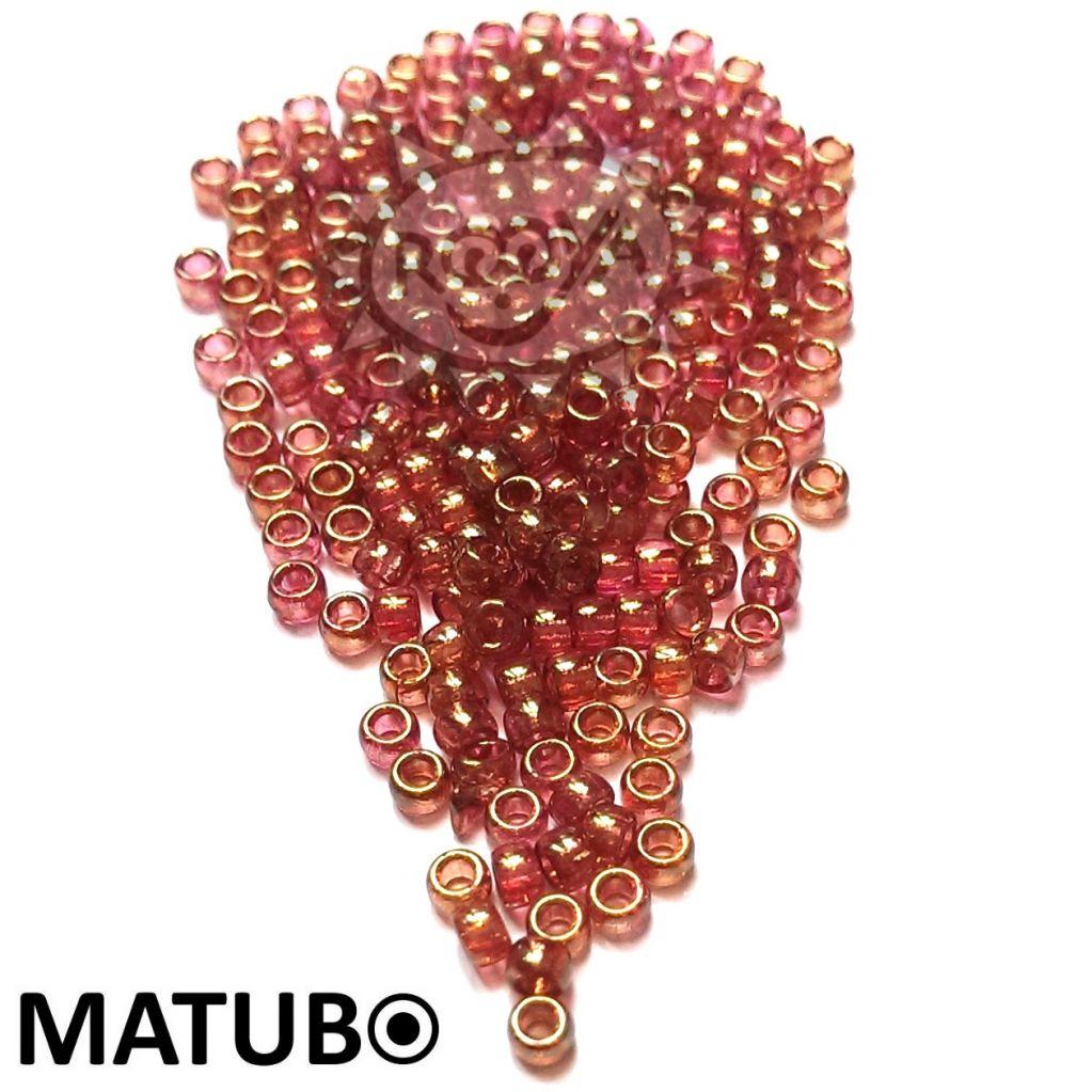 Matubo 7/0 krystal červený listr