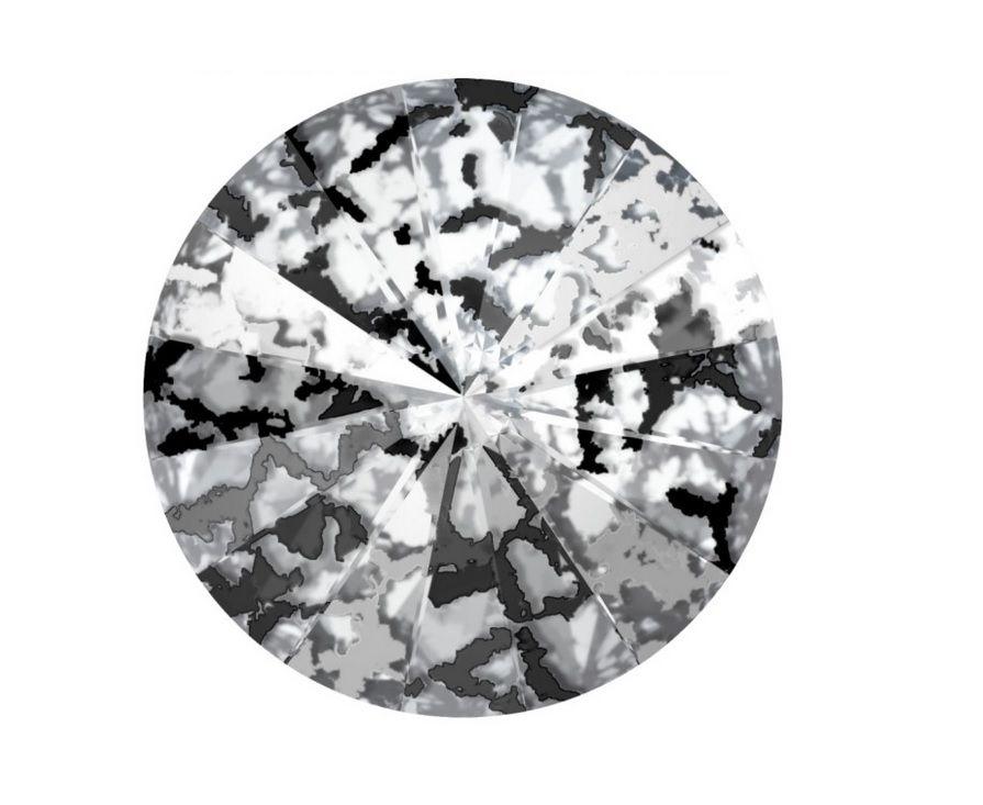 Swarovski Rivoli Black patina 10 mm