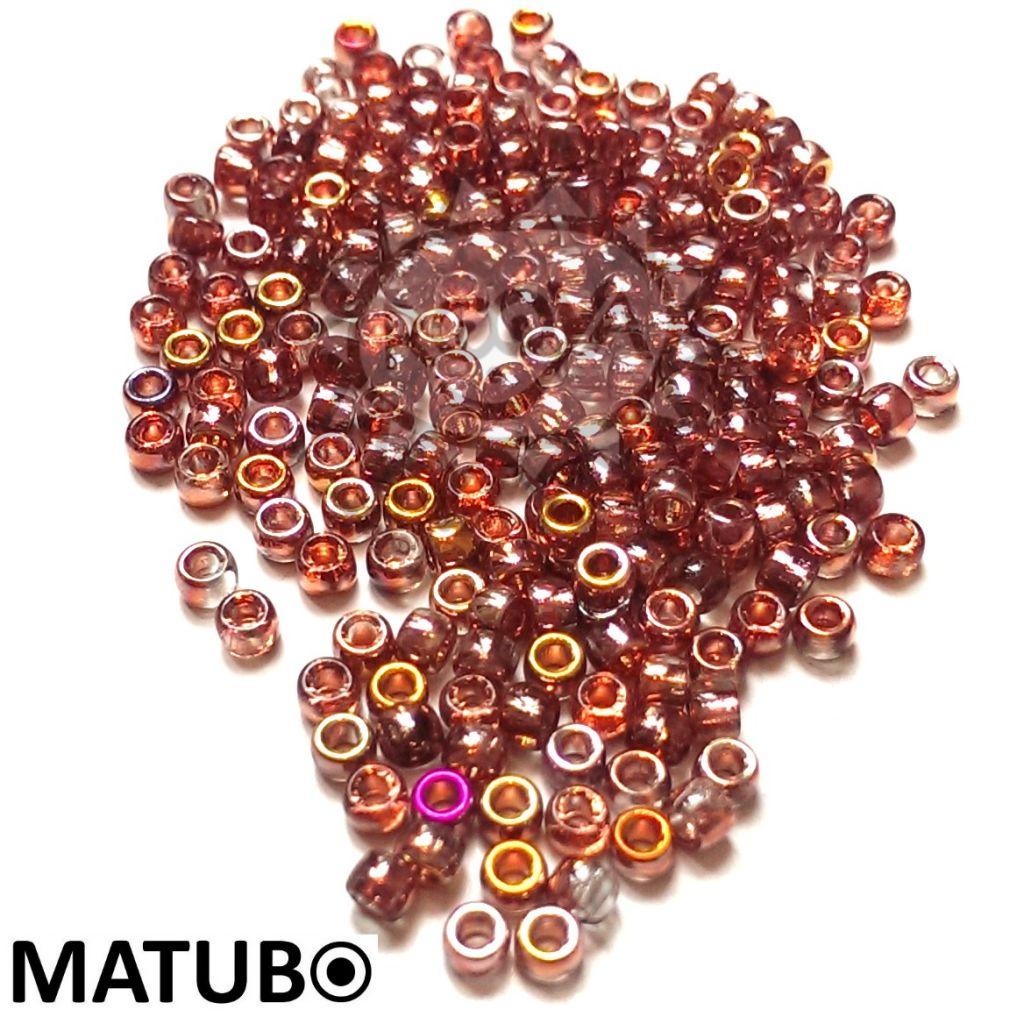 Matubo 7/0 krystal gold capri