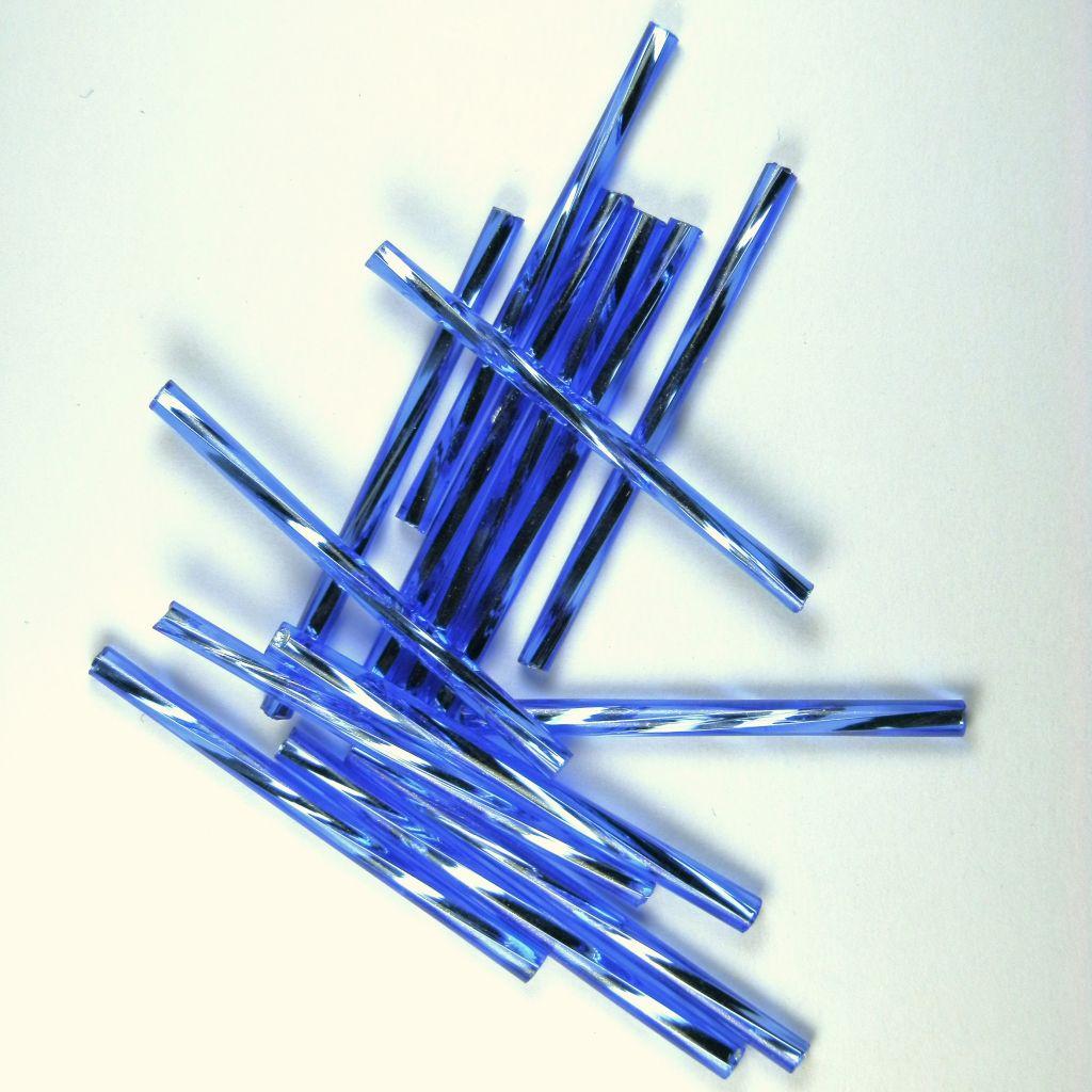 Trubička modrá kroucená 25 mm