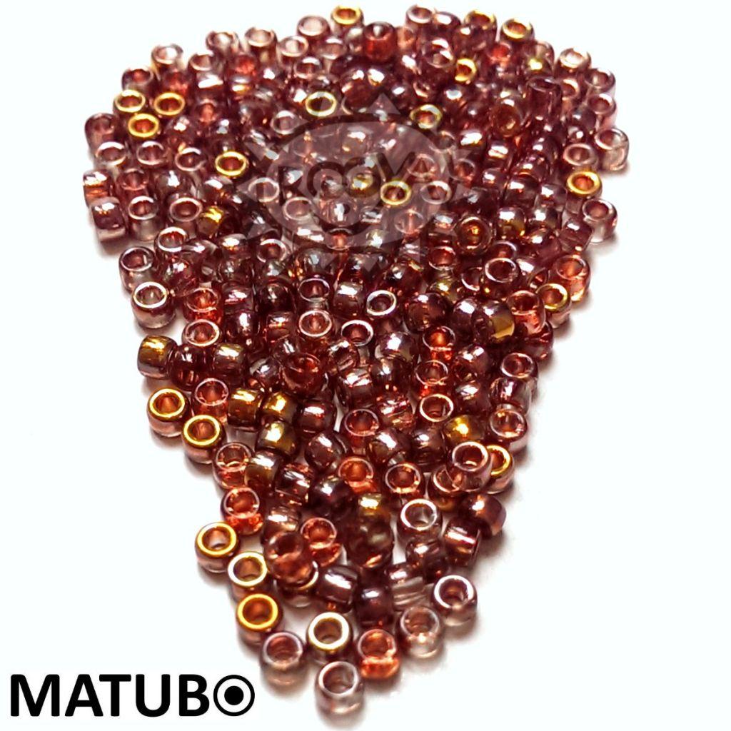 Matubo 7/0 rozalín gold capri