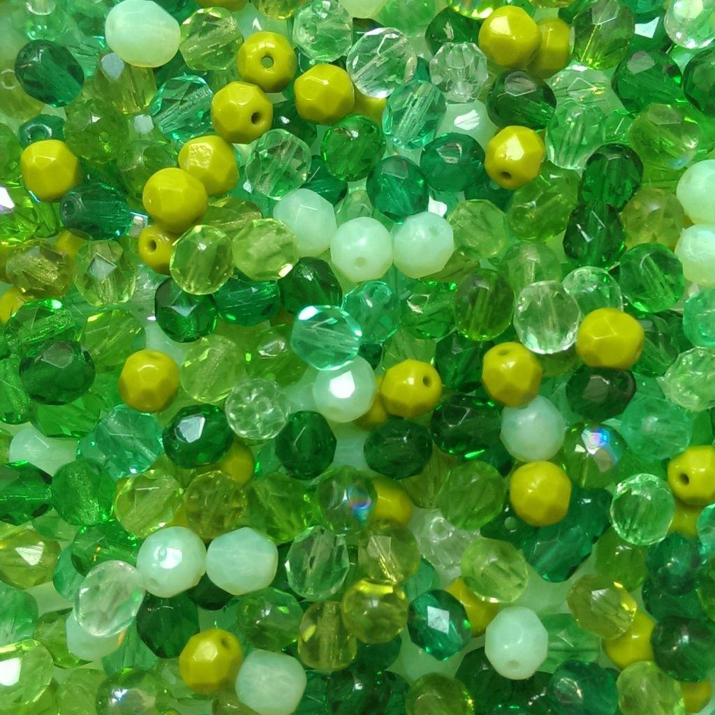 Ohňovky 6 mm zelený mix