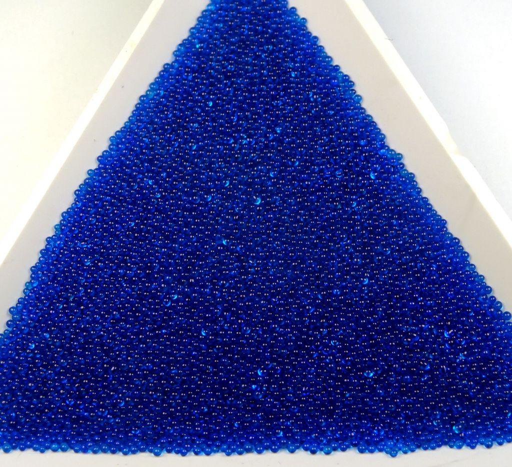 Mikroperličky průhledné modré