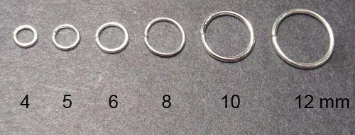 Spojovací kroužek, stříbrný, 12 mm