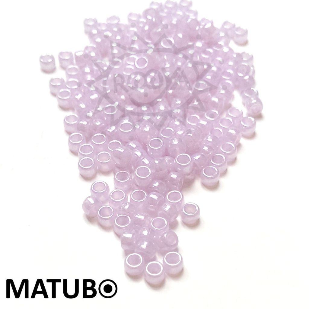 Matubo 7/0 fialový opál s listrem