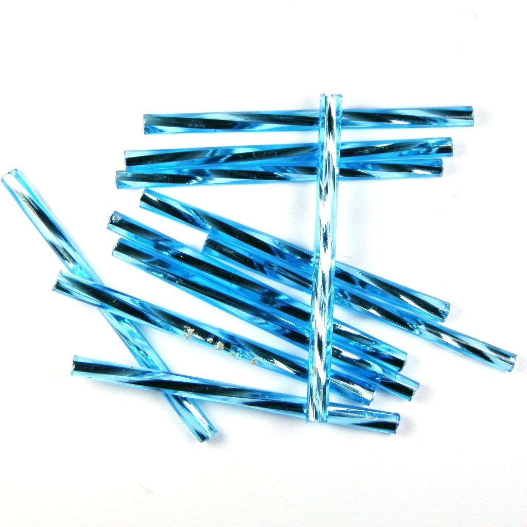 Trubičky kroucené 35 mm světle modré