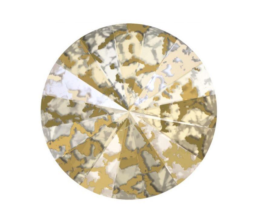 Swarovski Rivoli Gold patina 10 mm