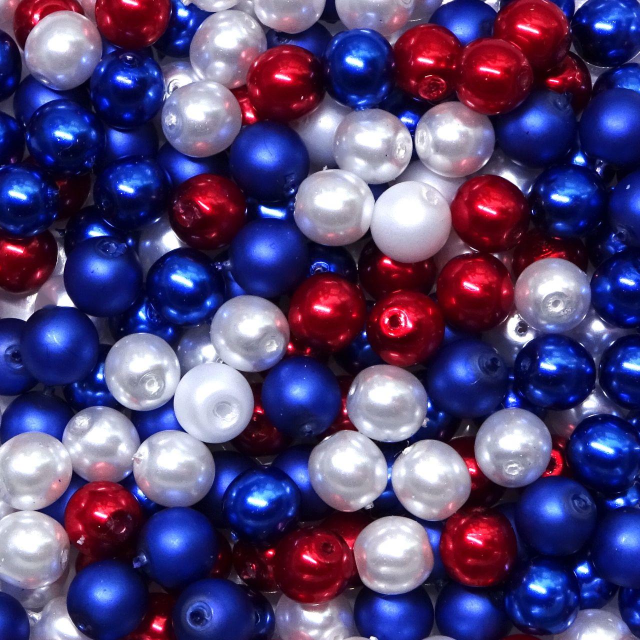 České perly 6 mm mix námořnický