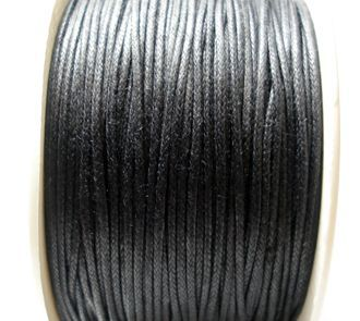 Voskovaná šňůra 1 mm černá