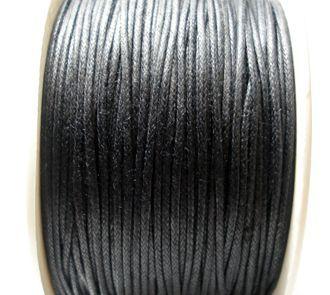 Voskovaná šňůra 2 mm černá