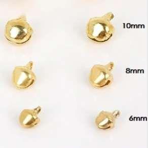 Rolničky zlaté 10 mm