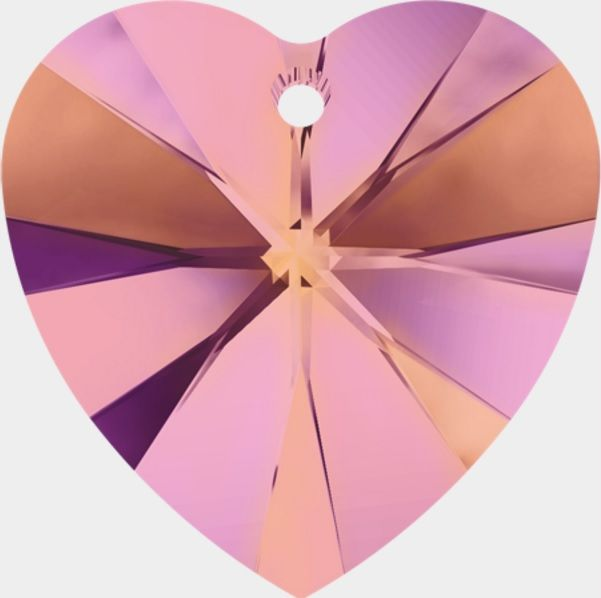 Swarovski Srdce 18 Cr. Astral pink