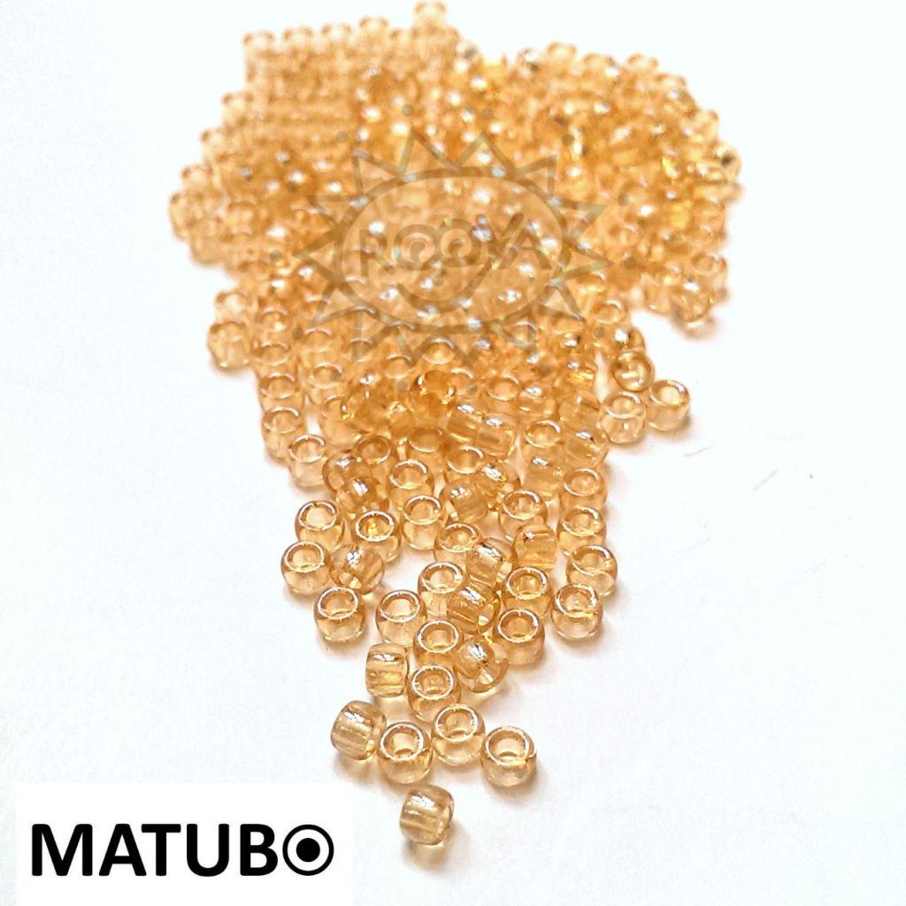 Matubo 7/0 krystal oranžový listr