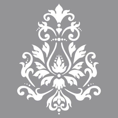 Šablona - Brokátový motiv, 30,5x30,5cm