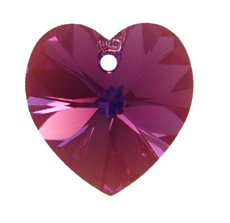 Swarovski Srdce 10 Amethyst AB