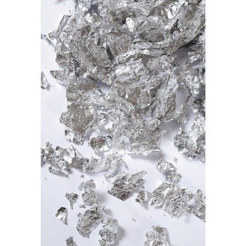 Metalické vločky stříbrné