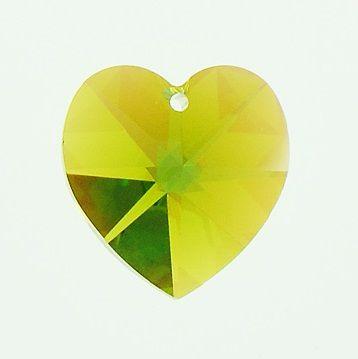 Swarovski Srdce 14 Olivine AB