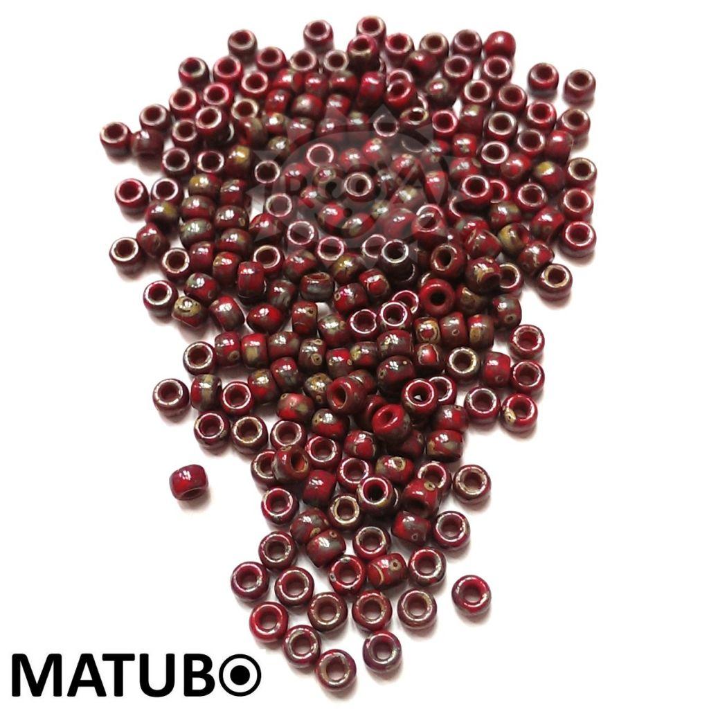 Matubo 7/0 korál travertin silný