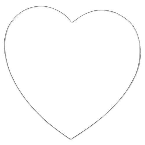 Srdce kovové - vel.35cm