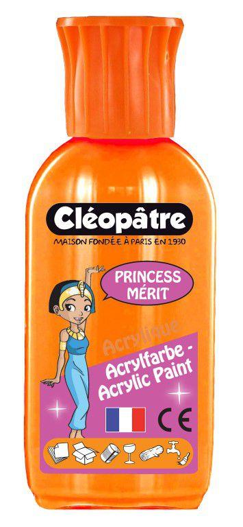 Akrylová barva PRINCESS MERIT 55ml Neonová Oranžová