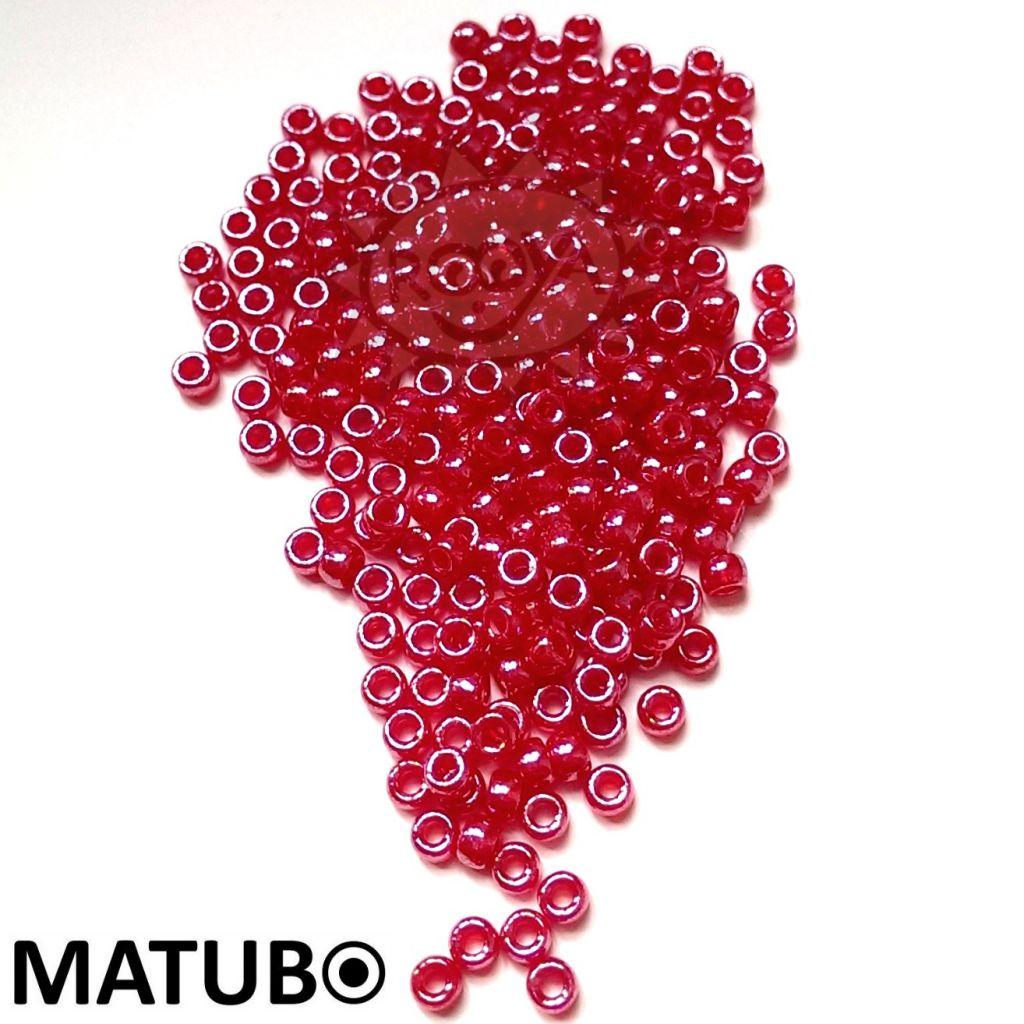 Matubo 7/0 červený opál bílý listr