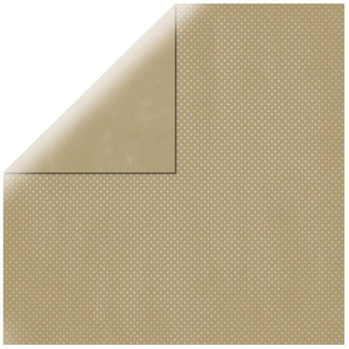 SP Double Dot, taupe-brown, 30,5x30,5cm, 190g/m2