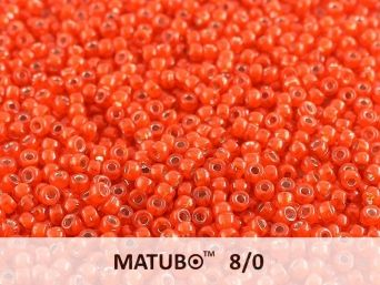 Matubo 8/0 red opal silver lined